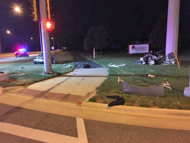 Huntley Crash Algonquin Rd splits car in half