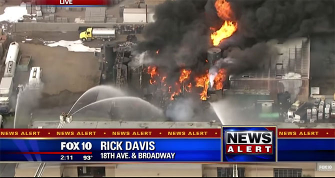 Phoenix Storage Tanks Fire 20150915
